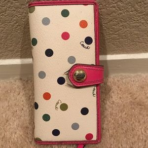 Used Coach Colorful Dots Wallet